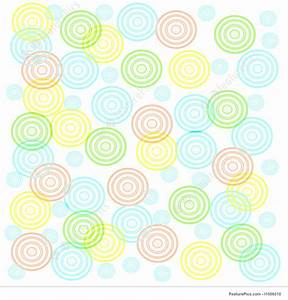 Baby Color Chart Abstract Patterns Baby Shower Stock Illustration