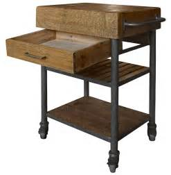 wood kitchen island cart kershaw rustic chunky reclaimed wood iron single drawer kitchen island cart kathy kuo home