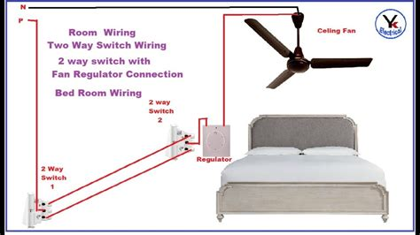 two way switch connection with fan regulator in yk electrical