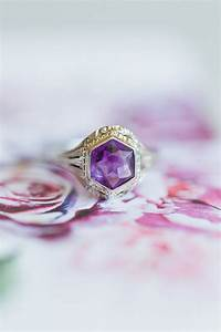 engagements rings gold set amethyst engagement ring With hipster wedding rings