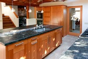 Solid, Cherry, Wood, Kitchen, Cabinet