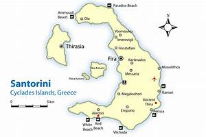 Santorini Map and Guide | Cyclades Islands, Greece