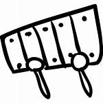 Xylophone Musical Instrument Toy Drawn Hand Vectors
