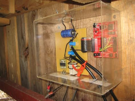 solar chicken door launchpad automates solar powered chicken coop door four