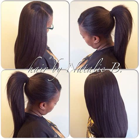 how to style extensions human hair pony sew in hair weaves by natalie b 708 675