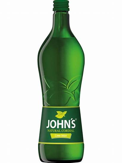 Juice Cordial Lime Natural 7l Johns Sirup