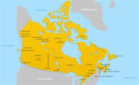 Carte Du Canada Avec Villes by Carte Canada