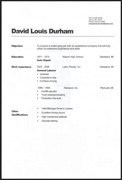 warehouse general labor resume sle 28 images best general labor warehouse resume latest resume format