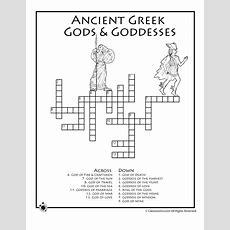 Greek Mythology Worksheets Greek Mythology Crossword Puzzle  Classroom Jr  Grade 4