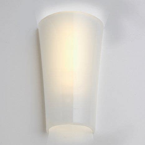 wireless battery powered led wall sconce white shade at