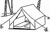 Tent Camping Coloring Pages Drawing Wecoloringpage Clip Template Sketch Drawings Getdrawings Snoopy Activity sketch template