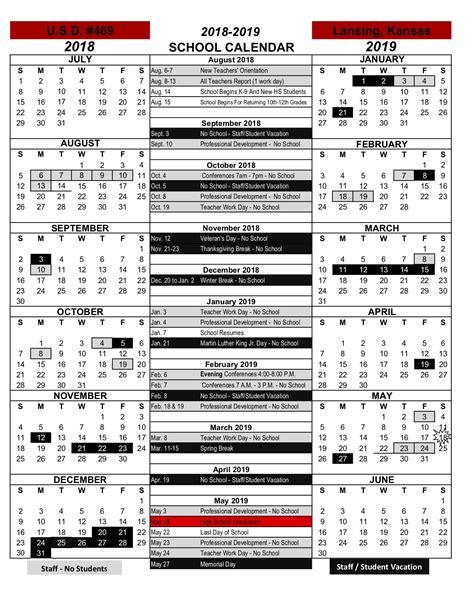 lansing usd calendar publicholidaysus