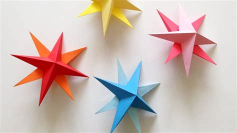 how to make hanging l with paper diy hanging paper 3d star tutorial for christmas birthday