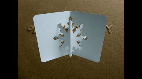pop  snowflake card tutorial origamic architecture