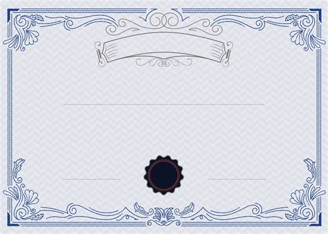 europeanstyle blue  white pattern vector certificate