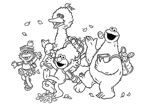 All Sesame Street Characters Coloring Pages Murderthestout