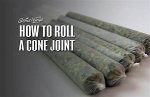 How To Roll A Cone Joint - Stoner Things