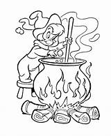Coloring Magic Witch Potion Bestcoloringpagesforkids Brewing Printable Fairy Sheets sketch template