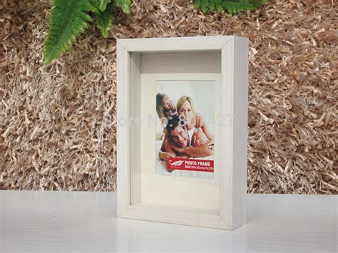 wooden box frame frame shdow box frame box wood frame for photo 5x7 inch u 1155