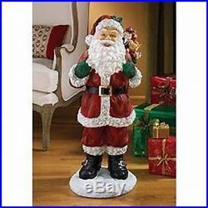 Indoor Christmas Decorations Santa Claus Statue 32 Home