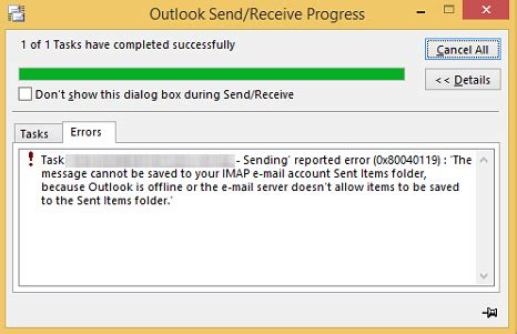 Office 365 Outlook Outbox Stuck by How To Remove Outlook Error 0x80040119 How To Remove