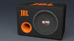 3d model jbl bass