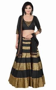 Buy Black Dhupion Party Wear ghagra choli Online