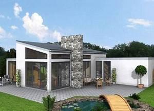 Bungalow Mit Pultdach : bungalow mit pultdach bauen pultdachbungalow ~ Lizthompson.info Haus und Dekorationen