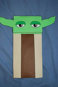 Yoda Paper Bag Puppet By