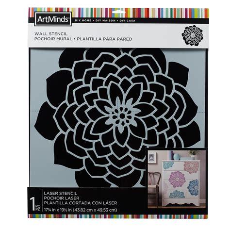 diy home moroccan flower wall stencil  artminds