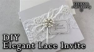 elegant beaded lace and brooch wedding invitation diy With elegant wedding invitations with brooches