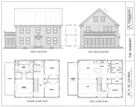 colonial house plans post beam house plans and timber frame drawing packages
