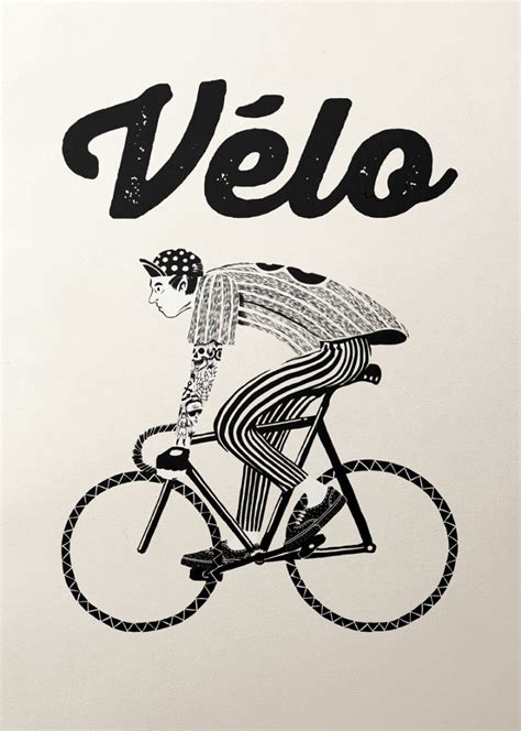 bicycle graphic design velo series  inspirationde