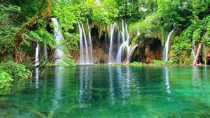 Nature Waterfall Mountain Lake Water