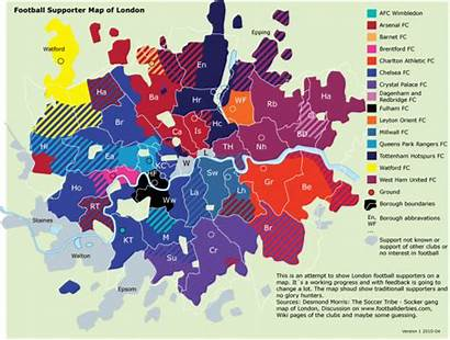 London Map Football Supporter Flowingdata Majority Accurate