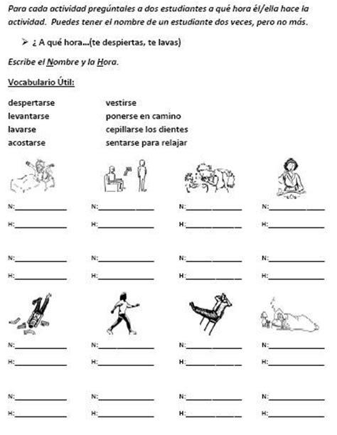 52 best images about verbos reflexivos y rutinas diarias