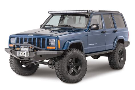 jeep xj stock bumper smittybilt xrc multi optional design m o d front bumper