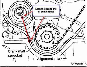 What Is The Correct Way To Install A Timing Belt Tensioner On A1998 Infiniti Qx4 3 3engine And