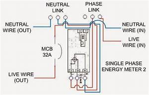 Diagram  Single Phase Electric Meter Wiring Diagram Full