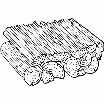 Drawing Clipart Firewood Wood Fireplace Logs Wooden
