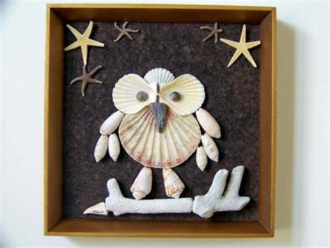 To create a festive atmosphere in the house will. Seashell Owl Wall Decor Cute Natural Seashell Owl by PattiStyle
