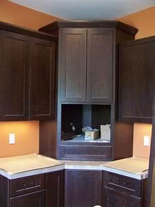 Corner Microwave Cabinet