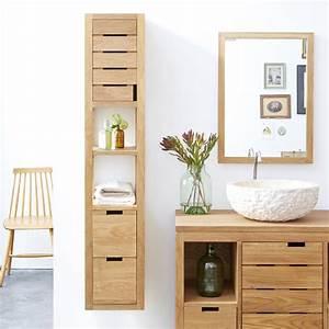 Badschrank 30 Cm Tief : badschrank aus eiche serena oak 30 tikamoon ~ Lateststills.com Haus und Dekorationen