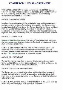 Real Estate Letter Of Intent Template Commercial Lease Agreement Sample Lease Agreement Lease