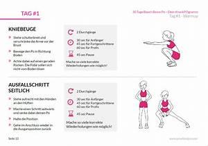 30 Tage Fitness : dein 30 tage bauch beine po trainingsplan we go wild ~ Frokenaadalensverden.com Haus und Dekorationen