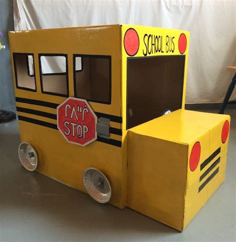 diy homemade cardboard box school bus cardboard box