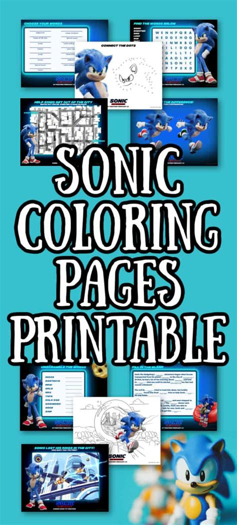 printable sonic  hedgehog coloring pages   happy