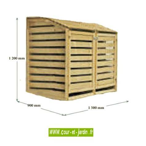 cache poubelle pas cher cache poubelle en bois trait 233