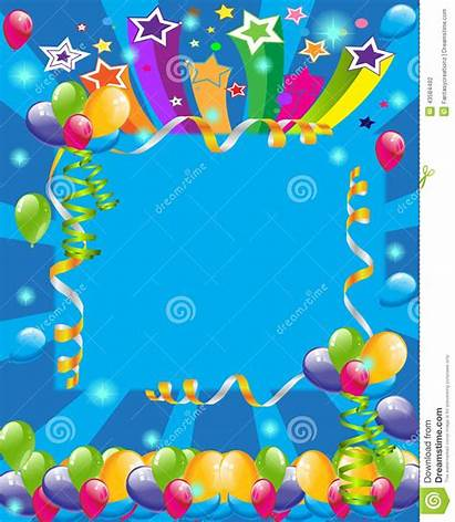 Invitation Party Birthday Background Cards Card Backgrounds