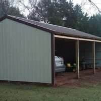pole barns post frame metal building packages sutherlands With 3 sided pole barn
